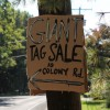 Tag Sale Sign